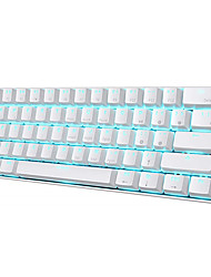 cheap -RK61 Wireless Bluetooth USB Wired Dual Mode Mechanical Keyboard Gaming Keyboard RK Switches Mini Size Rechargeable Monochromatic Backlit / Blue Backlit 61 pcs Keys