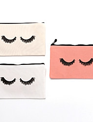 cheap -eyelash pencil case canvas print cosmetic bag clutch bag lady multifunctional storage