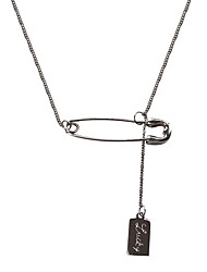 cheap -yongcheng s925 personality creative pin brand tassel temperament simple ins niche design sense clavicle chain female korean