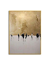 cheap -Oil Painting Handmade Hand Painted Wall Art Landscape Canvas Paintings Golden World Abstract Ready to Hang Home Decoration Decor