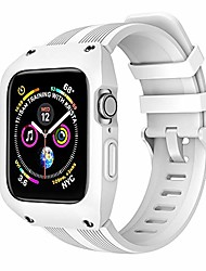 cheap -compatible for apple watch bands with rugged protective case designed,suitable for iwatch series 6/se/5/4 (white, 42mm)