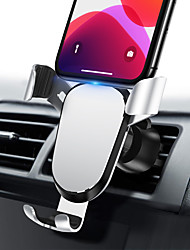 cheap -Phone Holder Stand Mount Car Air Vent Outlet Grille Car Holder Phone Holder Gravity Type Adjustable 360°Rotation Silicone Aluminum Alloy Phone Accessory iPhone 12 11 Pro Xs Xs Max Xr X 8 Samsung