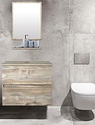 cheap -Bathroom vanity wall cabinet Wood grain color Furniture
