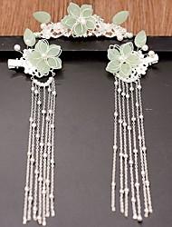 economico -hanfu copricapo set completo di spettacolo sposa cinese wo nappa step-shaking ornamenti per capelli in stile antico per bambini femmina adulto tornante set