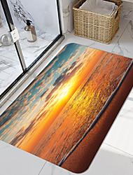 cheap -Dusk Beach Series Digital Printing Floor Mat Modern Bath Mats Nonwoven / Memory Foam Novelty Bathroom