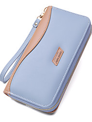 cheap -Women's Bags PU Leather Polyester Mobile Phone Bag Color Block Daily Outdoor 2021 Blue Blushing Pink Black