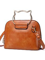 cheap -Women's Bags PU Leather Crossbody Bag Zipper Fashion Daily Office & Career Retro Handbags Almond Gray Black Red