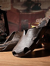 cheap -Men Sandals Waterproof Shoes Lightweight Slippers Plastic Soft Wear Resistant Outdoor Beach Home Slides Flip Flops Brown Black Beige Spring Summer