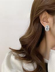 cheap -s925 silver needle asymmetric flower shape earrings creative personality earrings 2021 new trendy ear clip without pierced ears