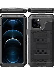 cheap -Rugged Armor Phone Case For iPhone 12 Pro Max iPhone 12 Pro IPhone 12 mini Aluminum Alloy Hybrid 360 Full Body Protective Cover with Built in Tempered Glass