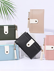 cheap -PU fashionable Women's ultra-thin credit pocket card holder coin purse ladies gift wallet