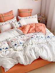 cheap -Yarn-dyed washable Bohemian 4 piece ethnic style embroidered tassel quilted bedspread