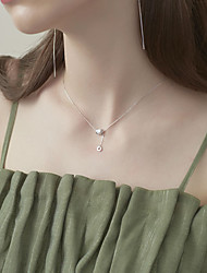 cheap -yongcheng s925 sterling silver jewelry necklace simple small waist tassel circle sterling silver necklace clavicle chain female models