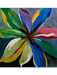cheap -Oil Painting Handmade Hand Painted Wall Art Floral Colorful Abstract Home Decoration Decor Stretched Frame Ready to Hang