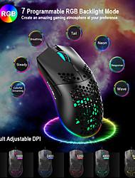 cheap -6 Button USB Computer Mouse Mice J900 RGB Lighting Mice 8000 DPI Ergonomic Gamer Dustproof Portable Carrying Decor