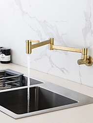 cheap -Kitchen faucet - Single Handle One Hole Nickel Brushed / Electroplated / Painted Finishes Pull-out / Pull-down / Tall / High Arc Centerset Contemporary Kitchen Taps