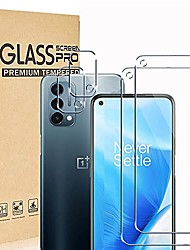 cheap -[2+2 pack] ranyi compatible with oneplus nord n200 5g 2021 screen protector + camera lens protector, 9h hardness anti-scratch hd clear no bubble tempered glass screen protector protective film
