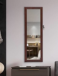 cheap -Fashion Simple Jewelry Storage Mirror Cabinet Can Be Hung On The Door Or Wall Brown Furniture