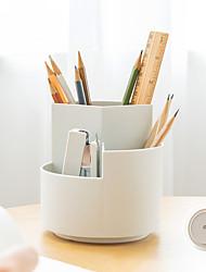 cheap -Plastics Transparent / Blue / Blushing Pink Desktop Organizer Desk Storage box Pen&Pencil Holders & Cases Office Supplies 9.5*11.6 cm 1 pcs