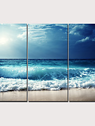 cheap -3 Panels Wall Art Canvas Prints Painting Artwork Picture Beach Painting Home Decoration Décor Rolled Canvas No Frame Unframed Unstretched
