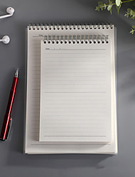 cheap -B5 New Flip-up Coil notebook back to school office Diary Words Book Writing Pads Cute Memo Pad Simple Fresh Carry Notepad 1pcs