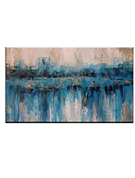 cheap -Oil Painting Handmade Hand Painted Wall Art Modern Blue Abstract Picture Home Decoration Decor Rolled Canvas No Frame Unstretched