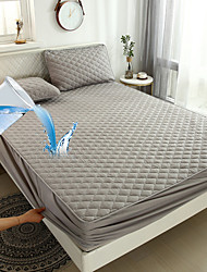 cheap -Quilted Mattress Pad Waterproof Breathable Mattress Protector Deep Pocket Pillow Top Mattress Cover with Siliconized Fiber Filling