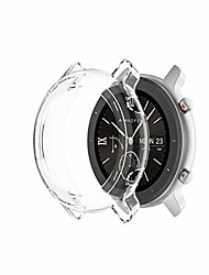 cheap -for huami amazfit gtr 47mm tpu half case watch case anti-dust (color : transparent white)