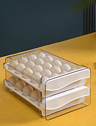 cheap -Egg Holder for Refrigerator 60 Grid Household Egg Storage Box for Fridge Large Capacity Double-layer Egg Storage Container