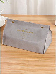 cheap -Spot Creative Software Plain Draw Paper Box Living Room Car Color Solid Pu Leather Draw Paper Towel Box 20*12*12.5cm