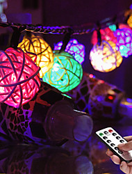 cheap -Sepak Takraw String Lights Waterproof Remote Control Battery Box 3M 20LEDs USB Fairy String Lights Wedding Garden Christmas Party Holiday Home Decoration Lamp