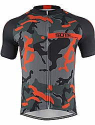 cheap -men's cycling jersey, short sleeve biking cycle tops quick dry breathable mtb shirt,racing bicycle clothes three pocket designs,orange,xxl