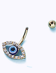 cheap -belly button ring devil's eye full drill umbilical ring fashion light luxury popular style belly button nails