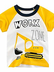 cheap -boys' excavator short sleeve crewneck t-shirts top tee size 2-7 years toddler boys' value pack cotton t-shirt