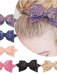 cheap -6 Pcs/set 5 Inch Baby Girls Big Glitter Hair Bow Kids Hairpins Hair Clip For Kids Hair Accessories Retal Hair Clip Women 881