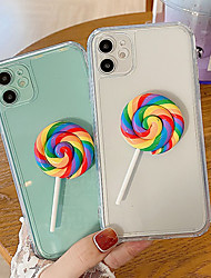cheap -Phone Case For Apple Back Cover iPhone 12 Pro Max 11 SE 2020 X XR XS Max 8 7 Shockproof Dustproof Cartoon Food TPU
