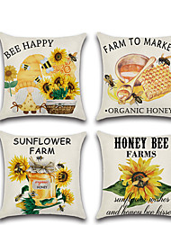 cheap -Sunflower Double Side Cushion Cover 1PC Soft Decorative Square Throw Pillow Cover Cushion Case Pillowcase for Bedroom Livingroom Superior Quality Machine Washable Outdoor Cushion for Sofa Couch Bed Chair Farm
