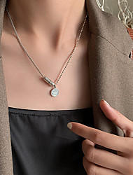 cheap -smiley capsule pill net red pendant necklace s925 sterling silver ins simple wild hip-hop style couple tide jewelry