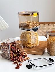 cheap -Food Storage Storage Tank Sealed Fresh-Keeping Moisture-Proof Miscellaneous Grain Tank Kitchen Storage Tank (700+950ml Combination)