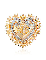cheap -Baroque Western Vintage Palace Brooch Creative Heart-Shaped Corsage All-Match Personalized Dress Brooch