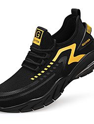 cheap -Unisex Safety Shoe Boots Sporty Classic Chinoiserie Office & Career Safety Shoes Tissage Volant Breathable Non-slipping Wear Proof Black and White Black / Yellow Fall Spring