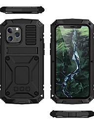 cheap -Phone Case For Apple Full Body Case iPhone 12 Pro Max 11 X XR XS Max Shockproof Dustproof Solid Colored Silicone Tempered Glass Metal