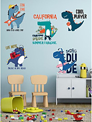 cheap -Music dinosaur band wall stickers living room bedroom children's room self-adhesive decoration stickers AY20026
