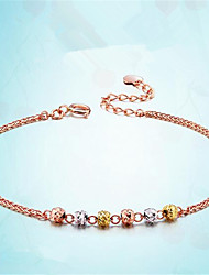 cheap -Women's Chain Bracelet Bracelet Geometrical Precious Fashion Copper Bracelet Jewelry Golden For Christmas Party Wedding Daily Work / Gold Plated
