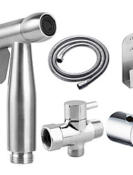 cheap -Stainless Steel Handheld Bidet Hot and Cold Mixing Valve Toilet Bow Cleaning Set Bidet Sprayer Faucet Balcony Cleaning Accessories washlet
