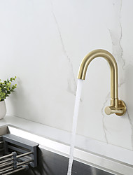 cheap -Kitchen faucet - Single Handle One Hole Chrome / Nickel Brushed / Painted Finishes Bar /Prep Wall Mounted Contemporary Kitchen Taps for Cold or Hot Water Only