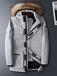 cheap -Women's Parka Regular Coat Regular Fit Jacket Letter Black Beige / Plus Size / Plus Size