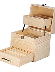 cheap -Three-layer Wooden Large Essential Oil Storage Holder Box Case Container Furniture