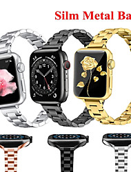 cheap -Women Metal Bracelet for Apple Watch SE 40mm 44mm Band Series 6/5/4/3/2/1 Slim Stainless Steel Wrist Strap for iWatch SE 6 Bands