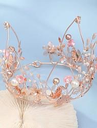 cheap -FORSEVEN Baroque Handmade Colorful Crystal Rhinestione Crown Multicolor Tiara Wedding Accessory Bridal Wedding Headdress JL